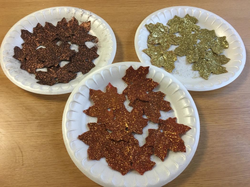 Glitter Leaves 3